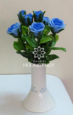 Hoa đất Hương Thủy -Hoa hồng nhỏ màu xanh lam- cao 22cm