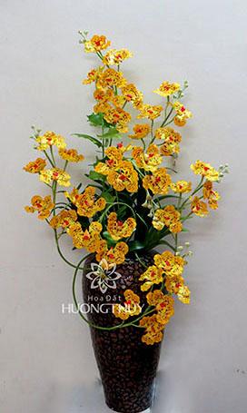 Hoa đất Hương Thủy – Lan Van-đa vàng vẽ (size lớn)