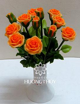 Hoa đất Hương Thủy – Hoa hồng size trung màu cam