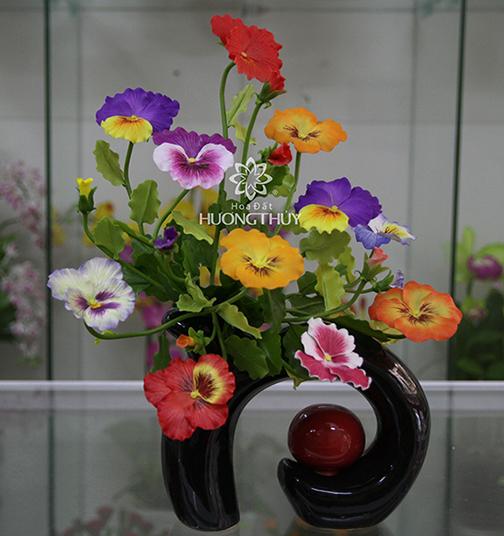 Hoa Păng-xê các mầu cắm bình nghệ thuật: 11 bông