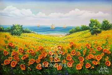 Tranh hoa Poppy