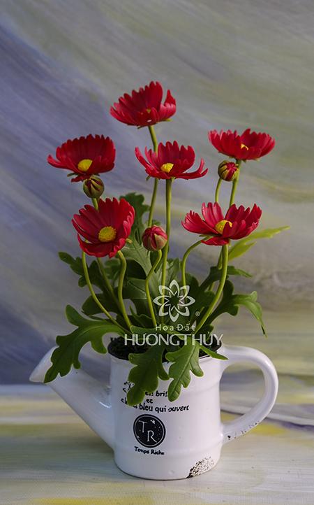Cốc hoa Bướm màu đỏ: cao 23cm
